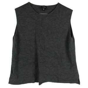 Eileen Fisher Merino Wool Sleeveless Sweater Vest
